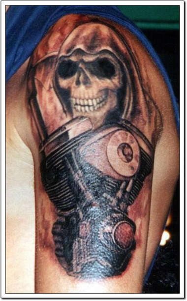 Extreme Biker Tattoo Designs